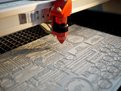 Laser engraving rubber